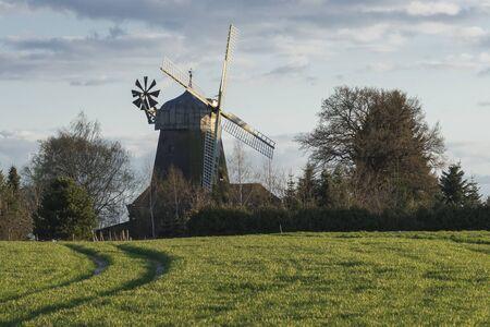 traditional windmill: Traditional windmill in Lower Saxony Germany Stock Photo