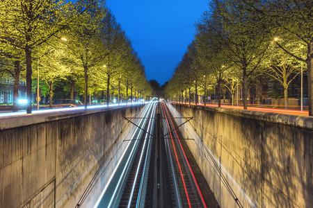 u bahn: Beginning of U-Bahn tunnel in Hanover