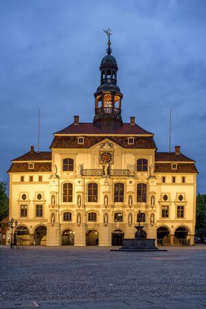 The historical Town Hall in Luneburg, Lower Saxony