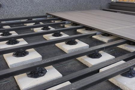 construction of a wood plastic composite garden terrace