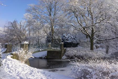 Sunny winter day in Hanover, Lower Saxony, Germany. Stok Fotoğraf