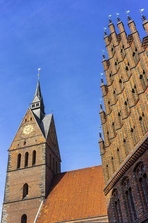 Market Church (Marktkirche) in Hannover, Germany Stok Fotoğraf