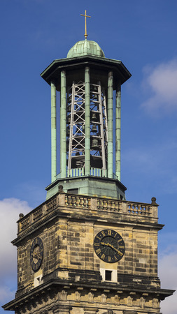 Belltower of Aegidienkirche in Hannover,, the capital of the federal state of Lower Saxony in Germany.
