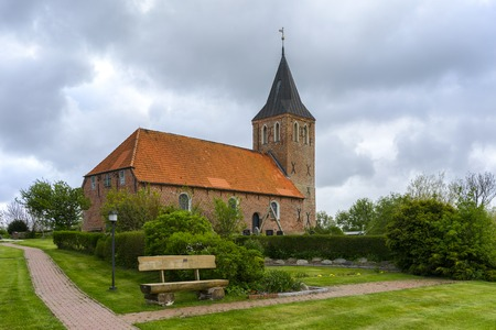 Typical old rural church in Schleswig-Holstein, Germany.