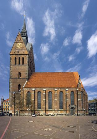 The Marktkirche St. Georgii et Jacobi, Lutheran church in Hanover, Germany. Stok Fotoğraf