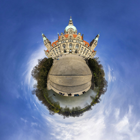 Litle planet Hannover. 360 degree panorama