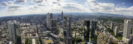 Panoramic view of Frankfurt am Main skyline. Editöryel