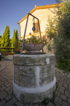 Old ancient well in Tuscany