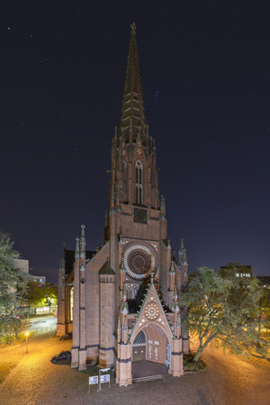 Christus Kirche in Hannover at evening