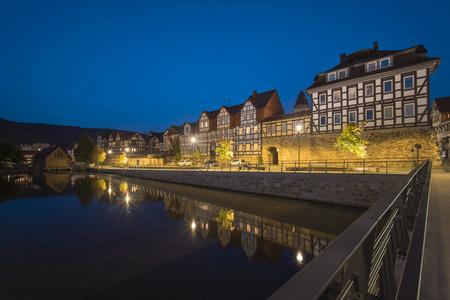 Hannoversch Muenden at summer evening. Lower Saxony.