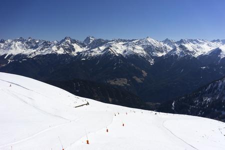 Alpine ski resort Serfaus Fiss Ladis in Austria. Tyrol. Stok Fotoğraf - 92402318