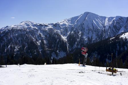 Alpine ski resort Serfaus Fiss Ladis in Austria. Tyrol. Stok Fotoğraf - 92402320
