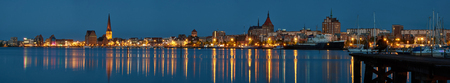 RostockRostock panoramic view at evening. Germany