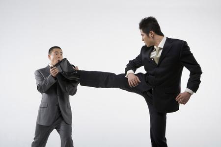Two Business Men Doing Sanshou