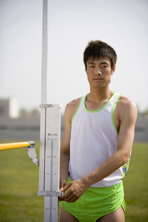 front facing: A Male High Jumper LANG_EVOIMAGES