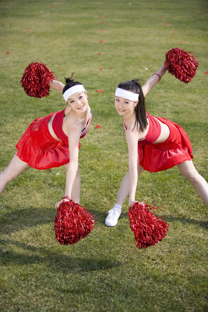 black cheerleader: Two Girl Rooters LANG_EVOIMAGES