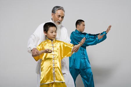 The Three Generations Doing Taiji