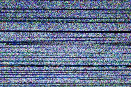 gürültü: Kötü sinyal alımı nedeniyle statik gürültü ile Televizyon ekranı Stok Fotoğraf