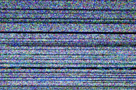 Television screen with static noise caused by bad signal reception Stock Photo - 16747500