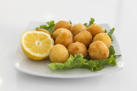 A plate with croquettes under studio lights Stock Photo - 17936678
