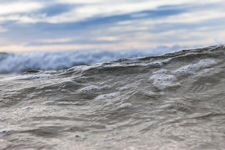 Close Up shot of a sea wave
