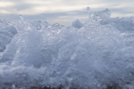 Close Up shot of an splashing sea wave