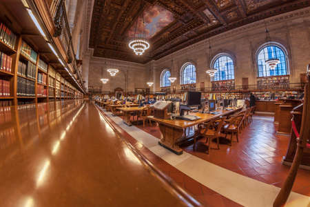 New York USA, DECEMBER 5, 2016. Inside the New York public library