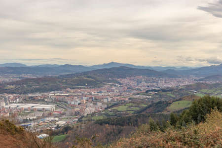 Panoramic view of Bilbao city, from the distance Banco de Imagens