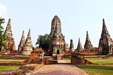 Wat Chaiwattanaram,Ayuthaya. Stock Photo