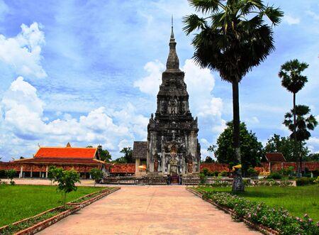 Pagoda at Laos Stock Photo