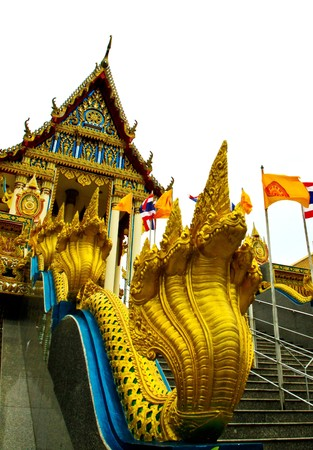 The Naka which decorate in front of a buddhist church in Thailand.