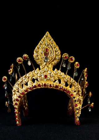The ancient style crown for Thai drama actress Stock Photo