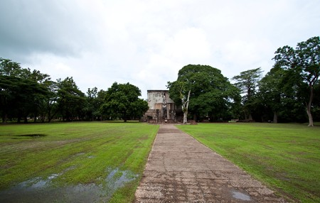 Sukhothai ancient city, one of Thailand world heritage. Stock Photo