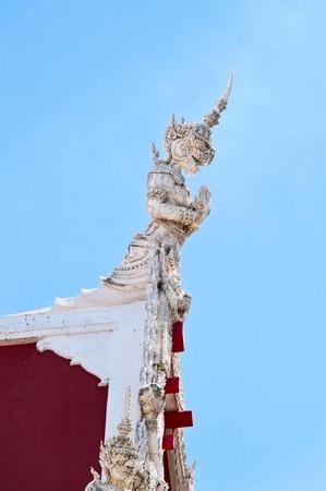 gable: Decorration of temple gable Stock Photo