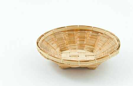 wicker basket that mostly use in ancient market of Thailand Stock Photo - 7787167