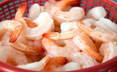 shrimp or banana prawn preparing for cook in asian kitchen