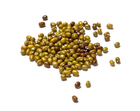 group of mung bean on white background Stock Photo