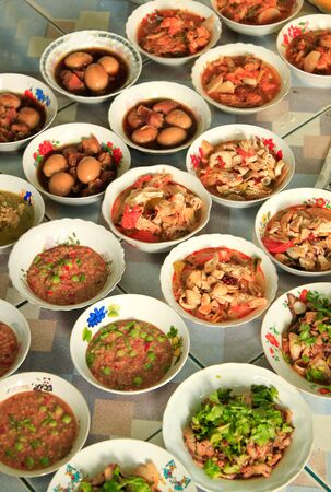 many type of thai food that prepare for party
