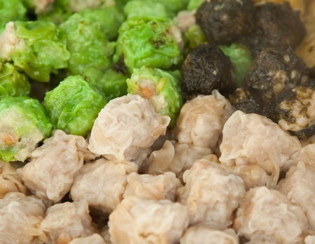 chinese dumpling which call as dim sum Stock Photo