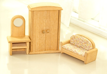 furniture model that make as a toy Stock Photo