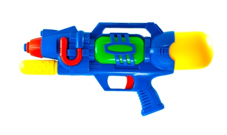 colorful water gun that use for water festival in thailand Stock Photo