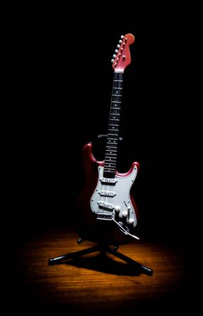 old red electric guitar model