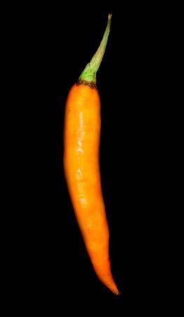 orange sweet pepper  on black background Stock Photo