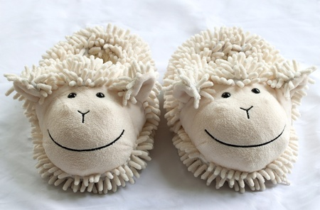 bedroom slipper that made as a sheep Stock Photo - 10761040