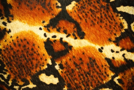 fake tiger skin that made from leather photo
