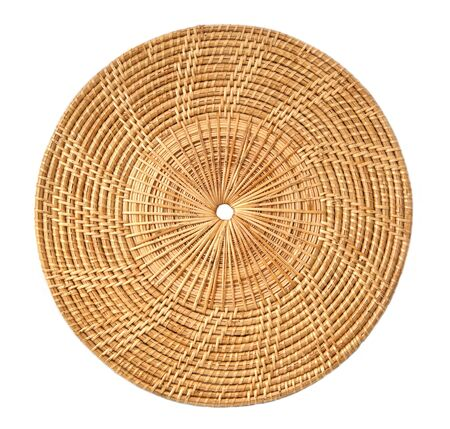 bamboo weave design on white background