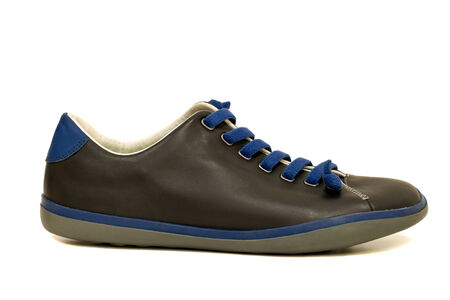 shoe lacing type for leather shoe