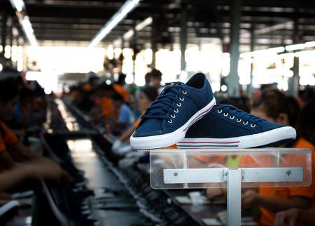 navy blue sneaker shoe in footwear industry