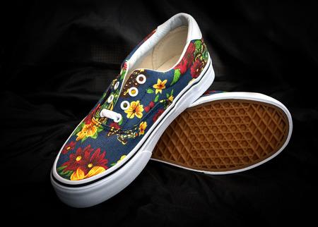 sneaker shoe as flower design
