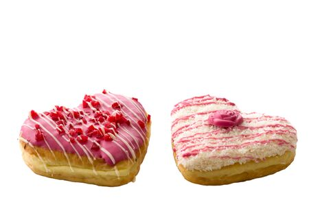 donut shape: colorful donut in heart shape